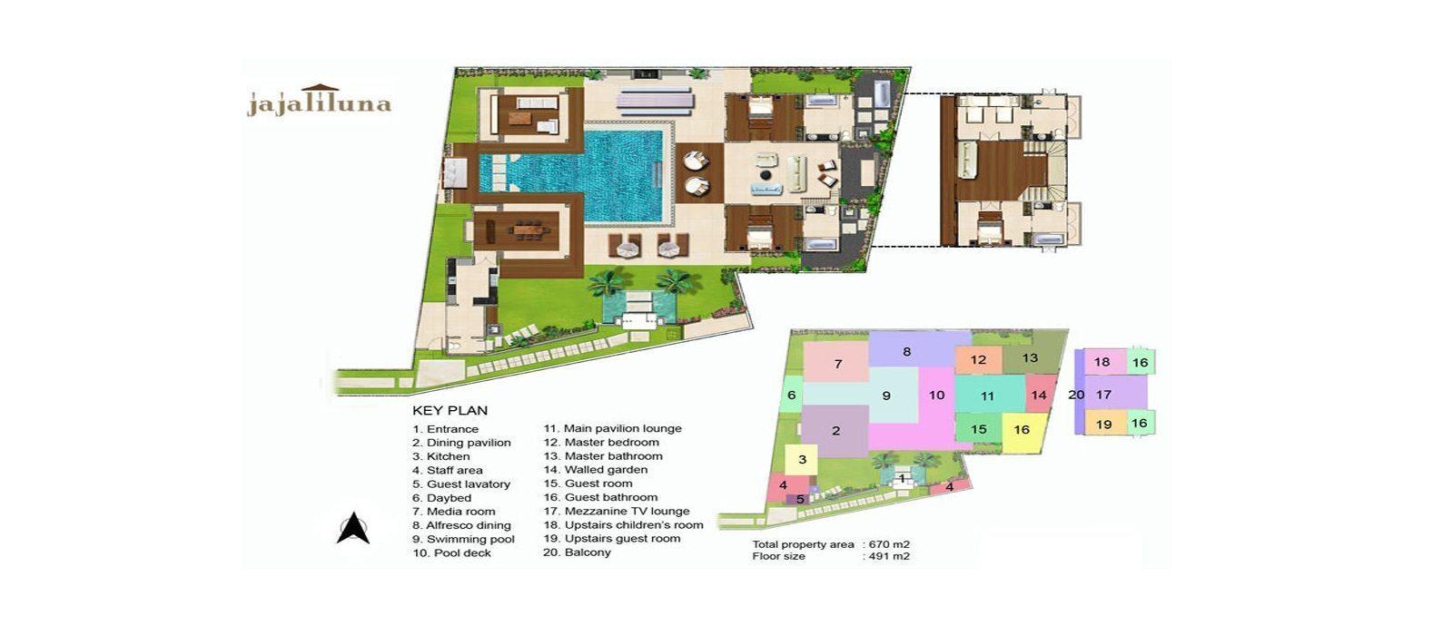Villa Jajaliluna Floorplan | Seminyak, Bali