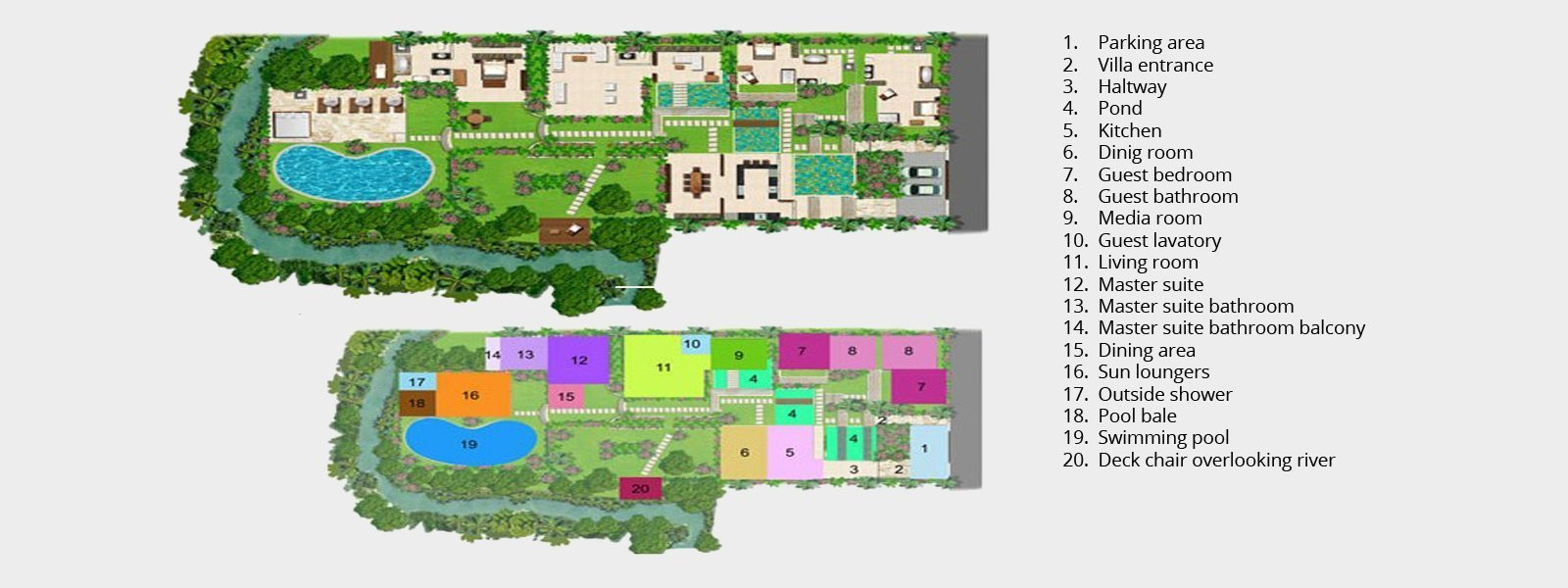 Villa Pangi Gita Floorplan | Pererenan, Bali