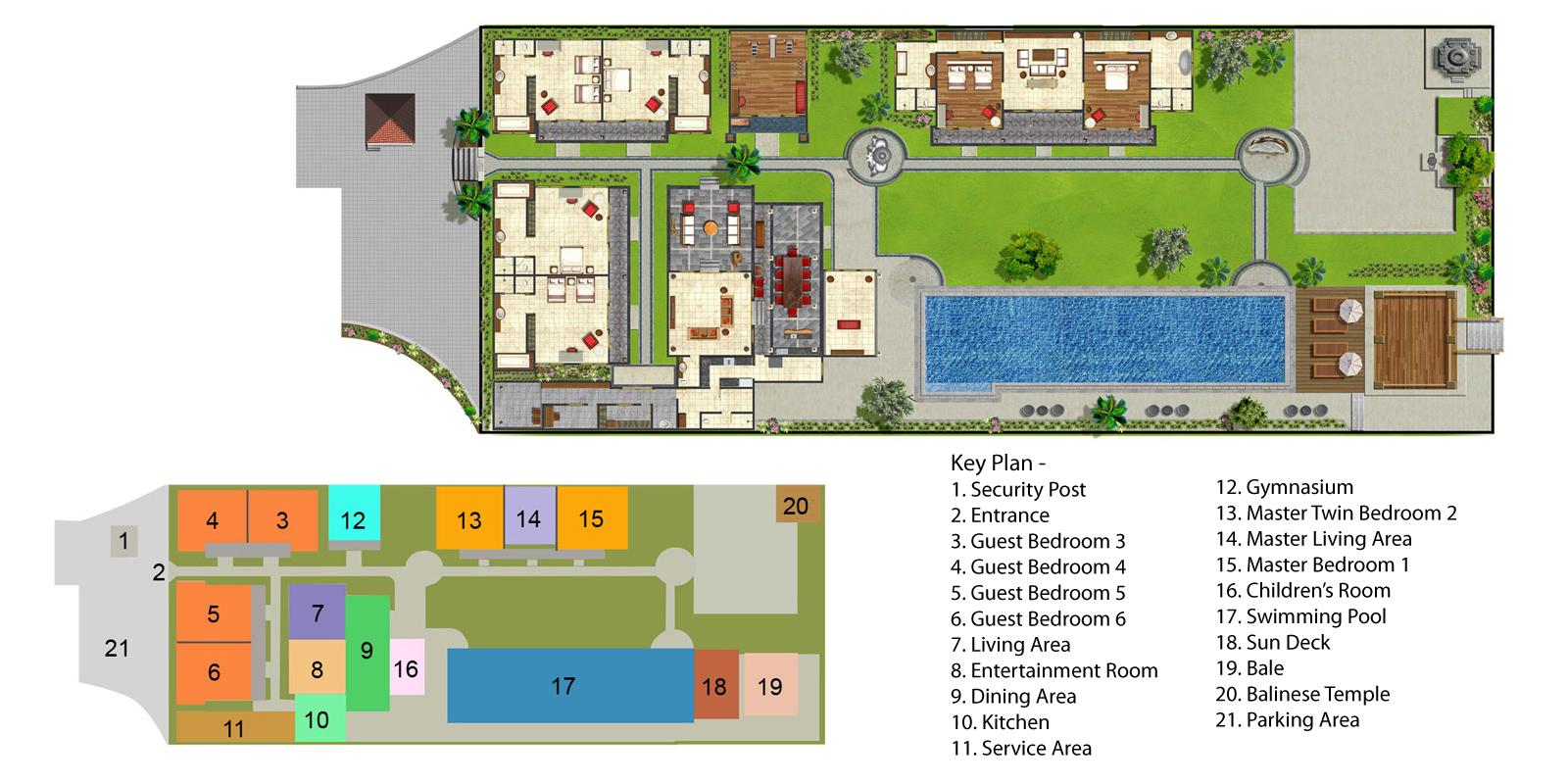 Villa San Floorplan One | Ubud, Bali