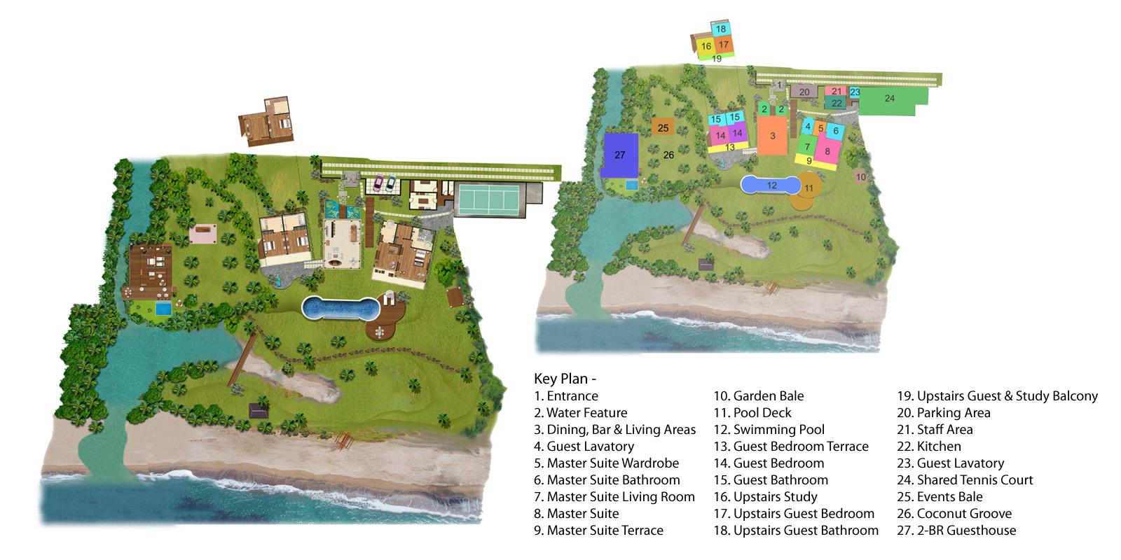 Villa Sungai Tinggi Floorplan One | Pererenan, Bali