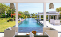 Villa Anucara Living Area with Pool View | Seseh, Bali