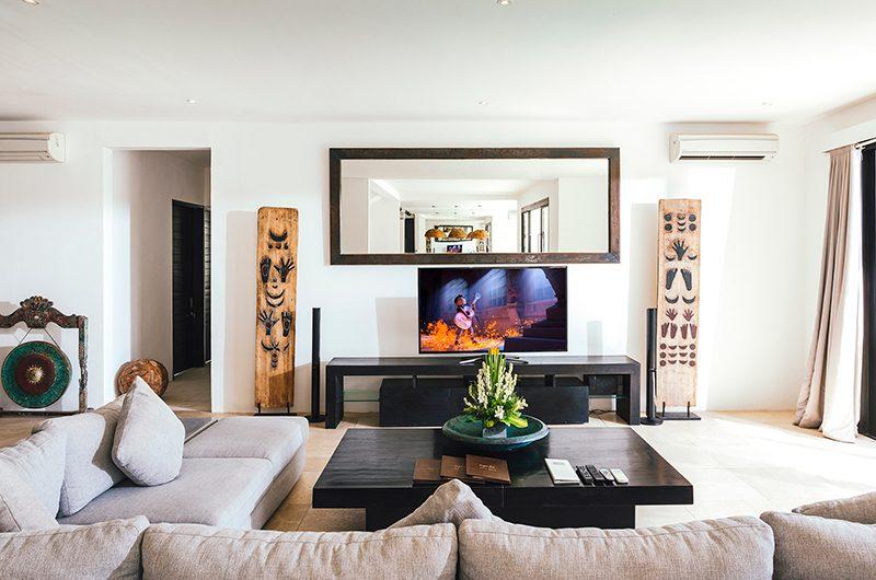 Villa Anucara Living Room with TV   Seseh, Bali