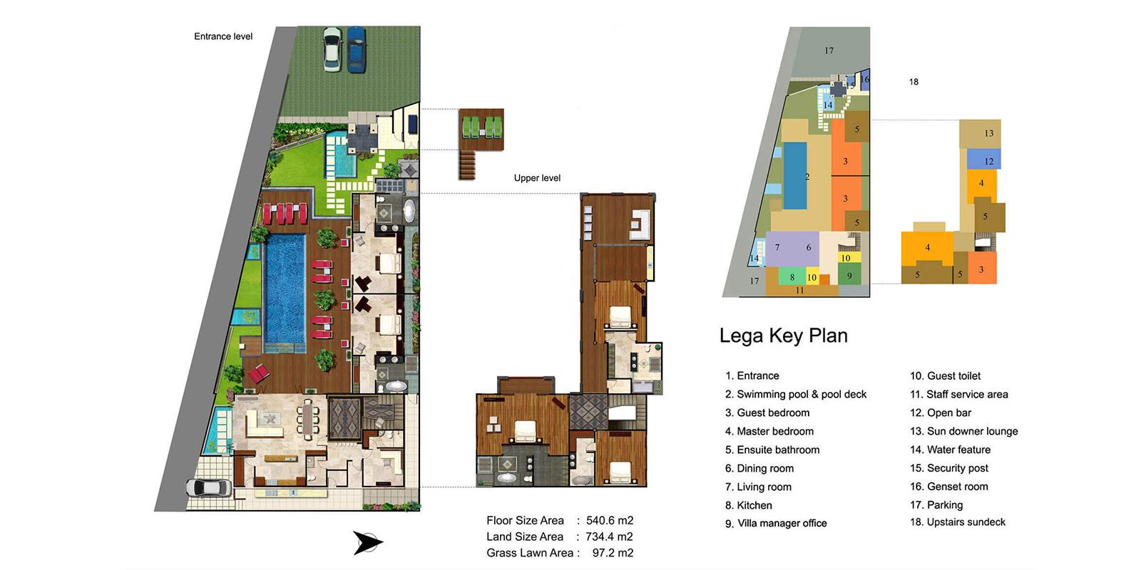 Villa Lega Floor Plan | Batubelig, Bali