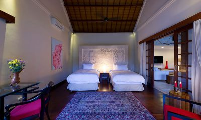 Villa San Bedroom with Twin Beds | Ubud, Bali
