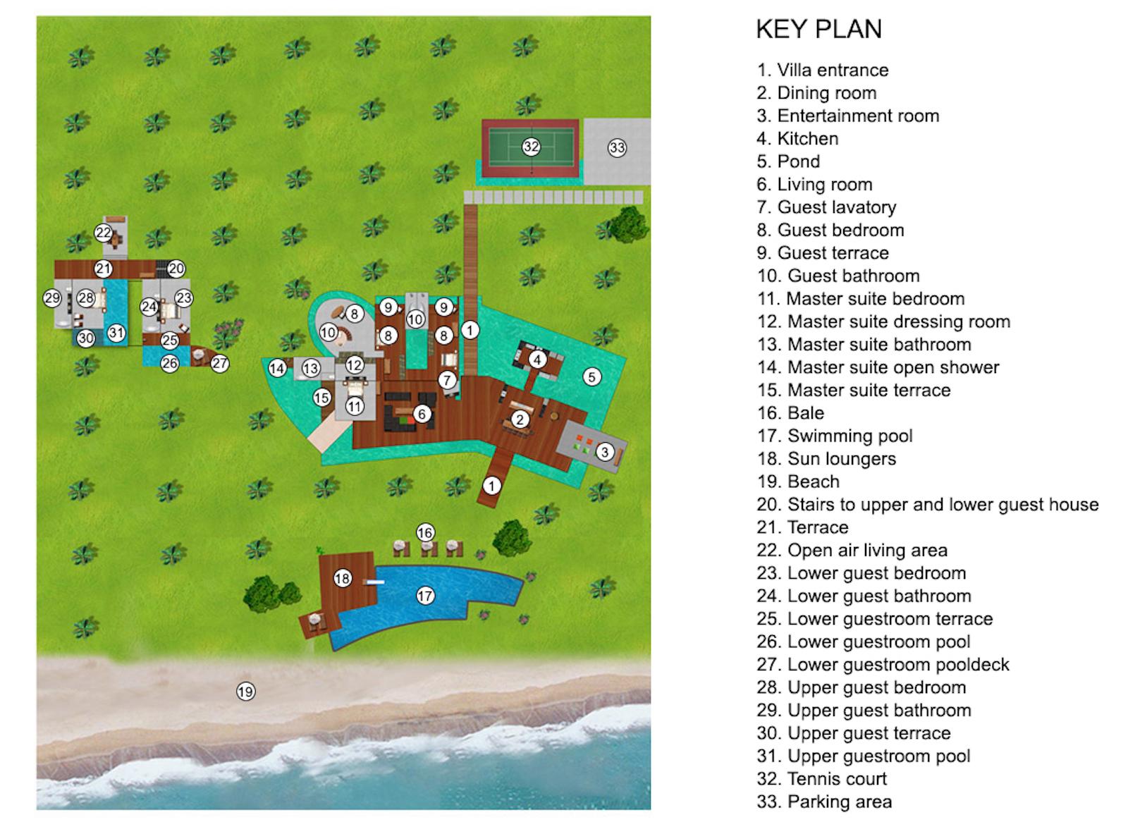 Villa Sapi Floor Plan   Lombok, Indonesia