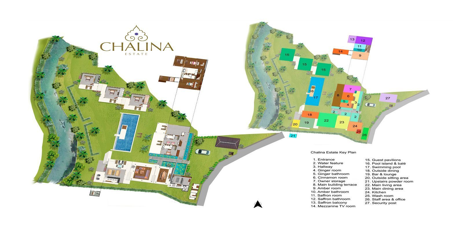 Chalina Estate Floorplan | Canggu, Bali