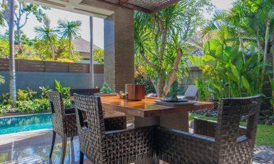 Le Jardin Villas Pool Side Dining | Seminyak, Bali