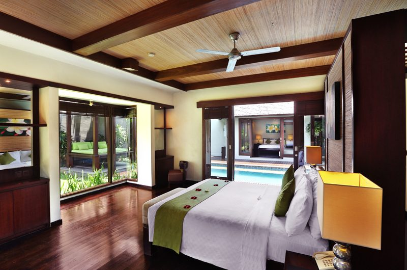 Le Jardin Villas Bedroom with Wooden Floor | Seminyak, Bali