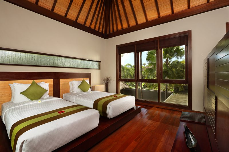 Le Jardin Villas Bedroom with Twin Beds | Seminyak, Bali