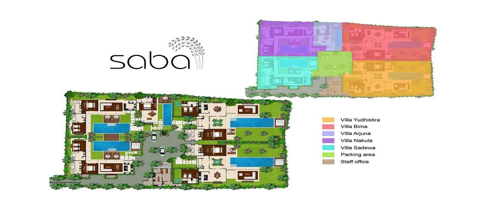 Saba Bali Villas Floorplan | Canggu, Bali