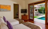 Saba Villas Bali Villa Bima Twin Bedroom with Pool View | Canggu, Bali
