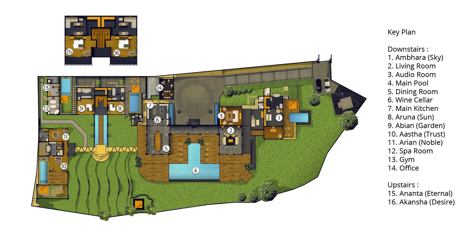 The Shanti Residence Floorplan | Nusa Dua, Bali