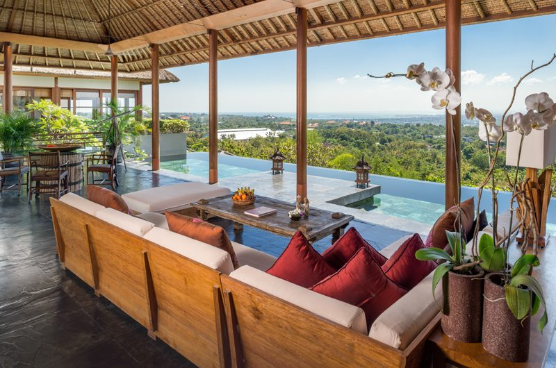 The Longhouse Living Area with Pool View | Jimbaran, Bali