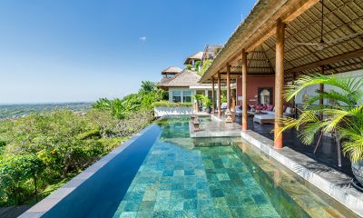 The Longhouse Indoor Living Area with Pool View | Jimbaran, Bali