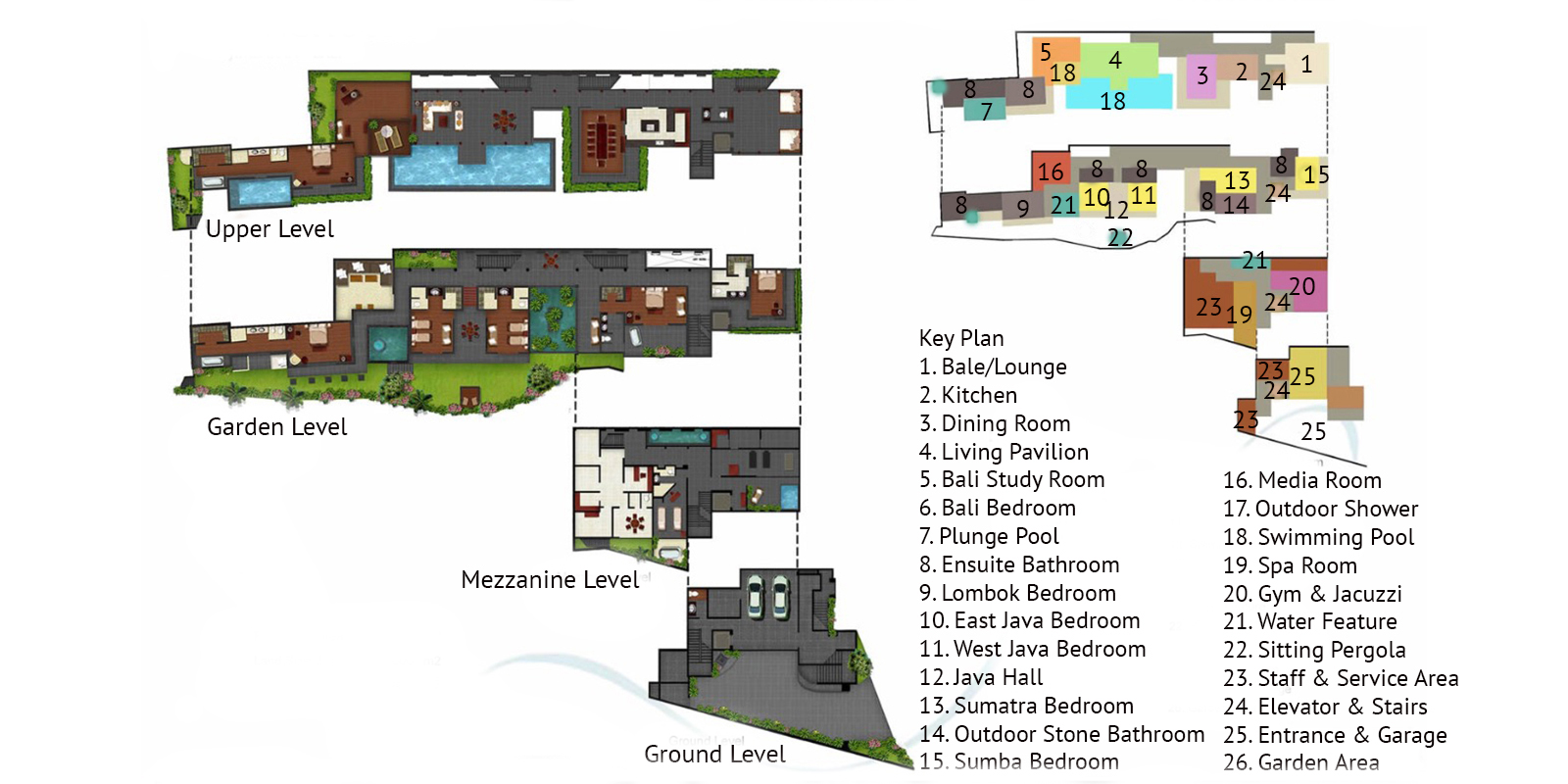 The Longhouse Floor Plan | Jimbaran, Bali