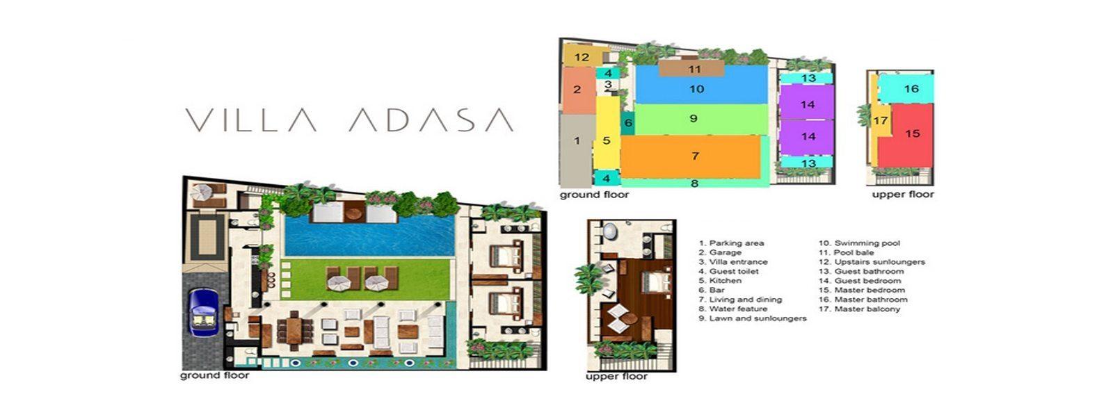 Villa Adasa Floorplan | Seminyak, Bali