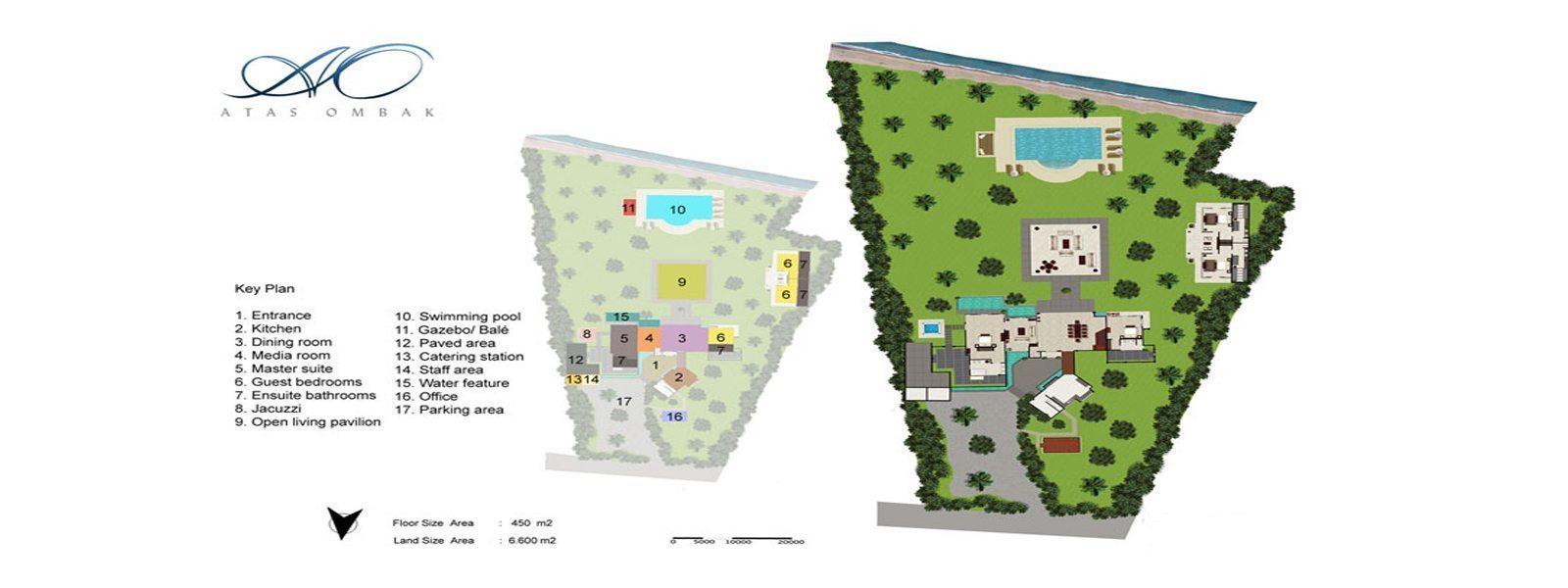 Villa Atas Ombak Floorplan | Batubelig, Bali