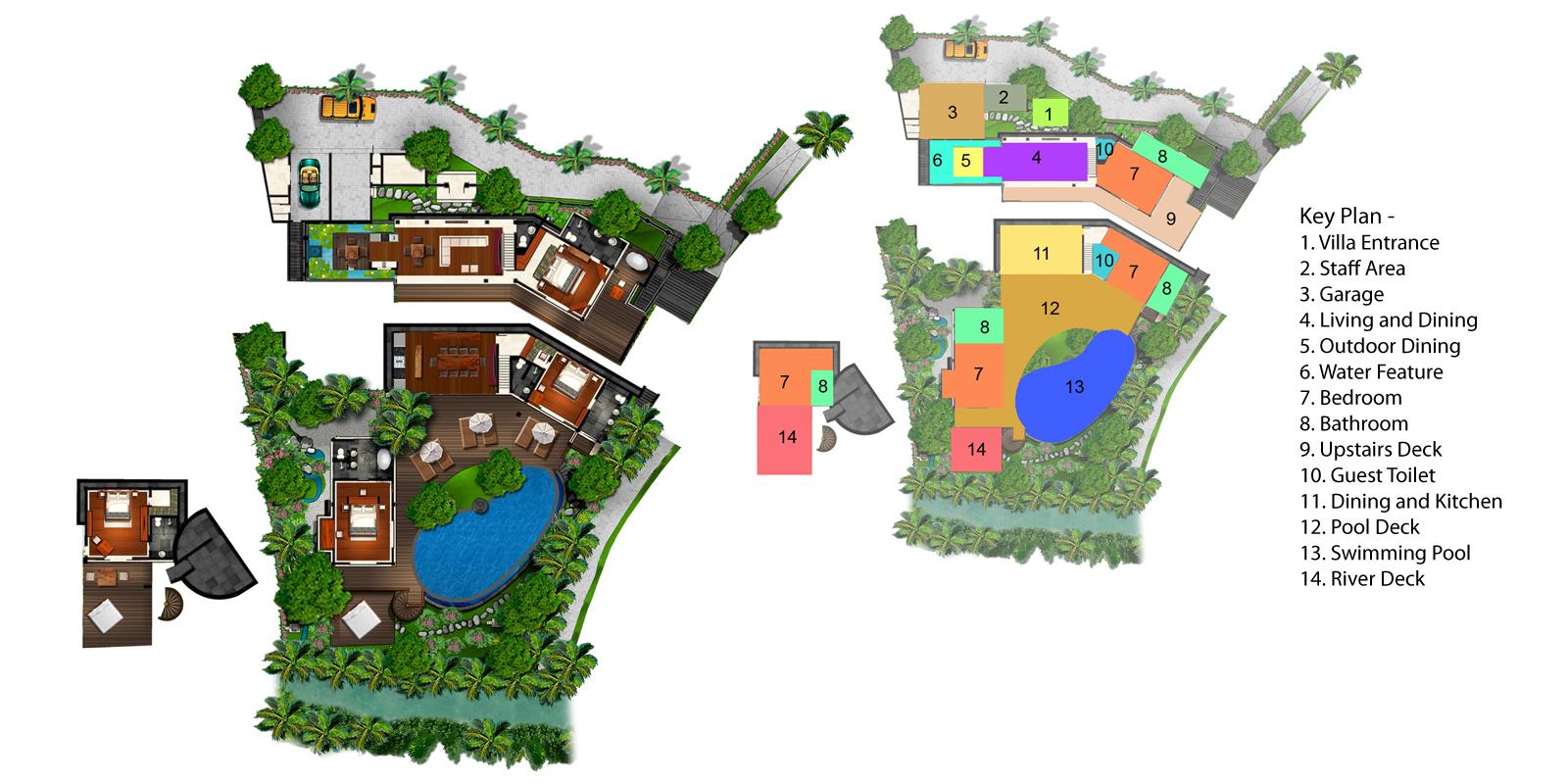 Villa Iskandar Floorplan | Seseh, Bali