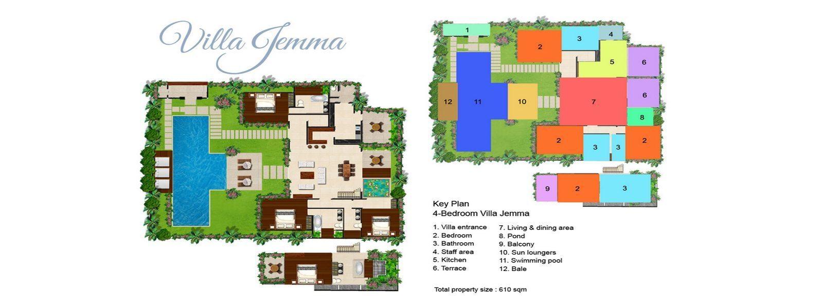 Villa Jemma Floorplan | Seminyak, Bali