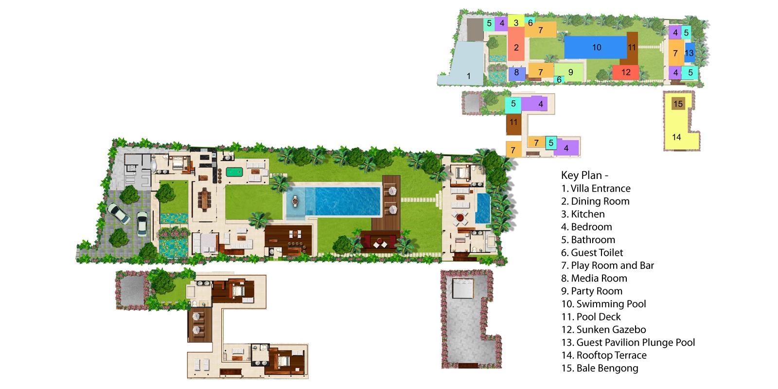 Villa Kalyani Floorplan One   Canggu, Bali