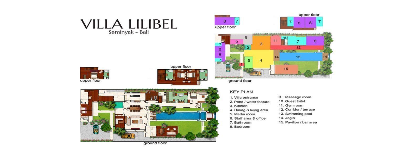 Villa Lilibel Floorplan   Seminyak, Bali