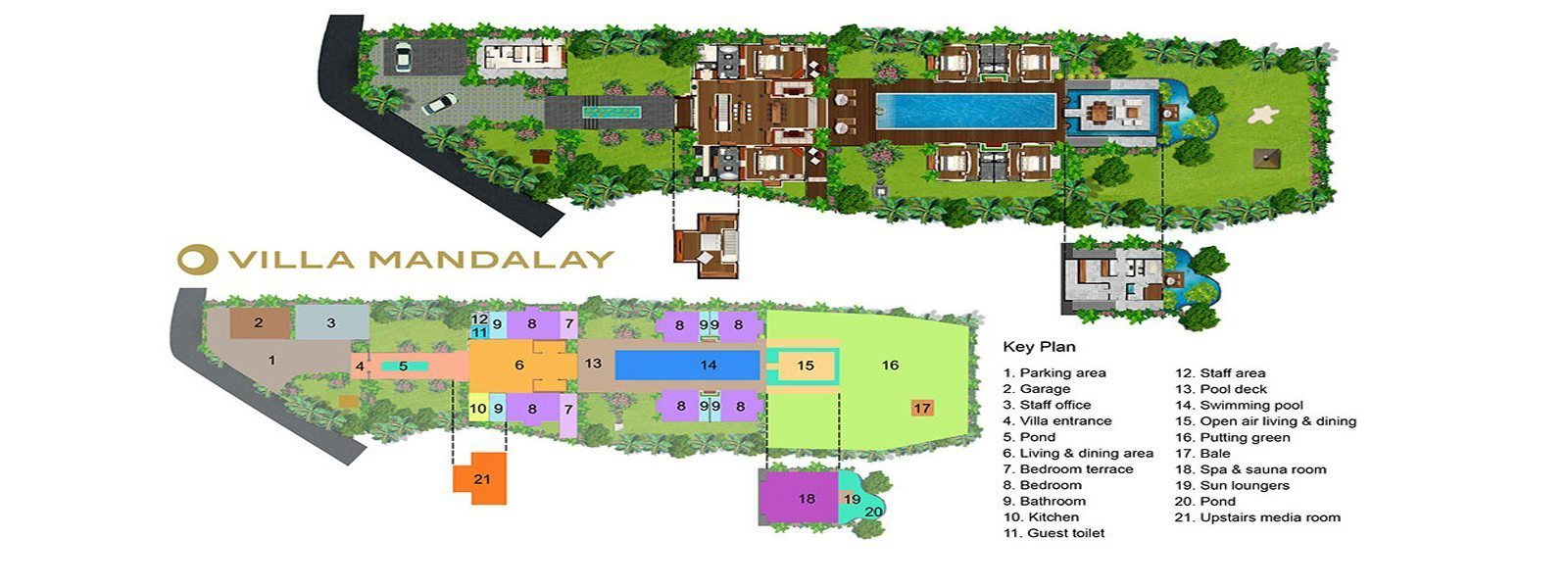 Villa Mandalay Hill Floorplan | Seseh, Bali