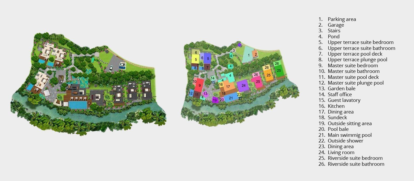 Villa Maya Retreat Floorplan | Tabanan, Bali