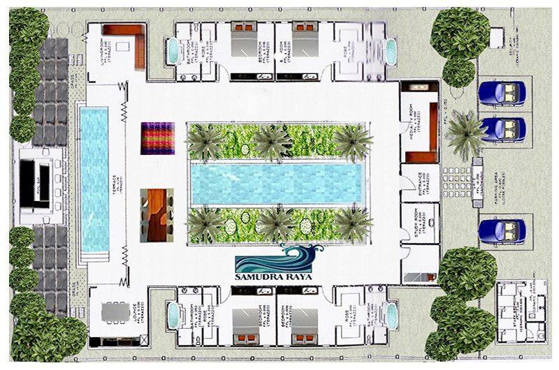 Villa Samudra Raya Floorplan | Kerobokan, Bali