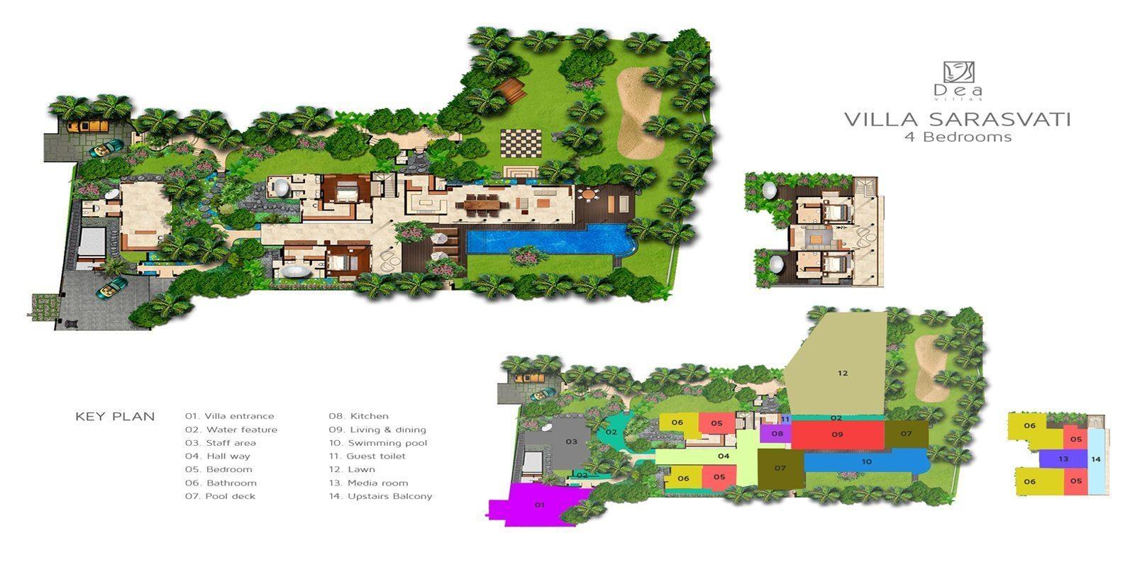 Villa Sarasvati Floorplan | Canggu, Bali
