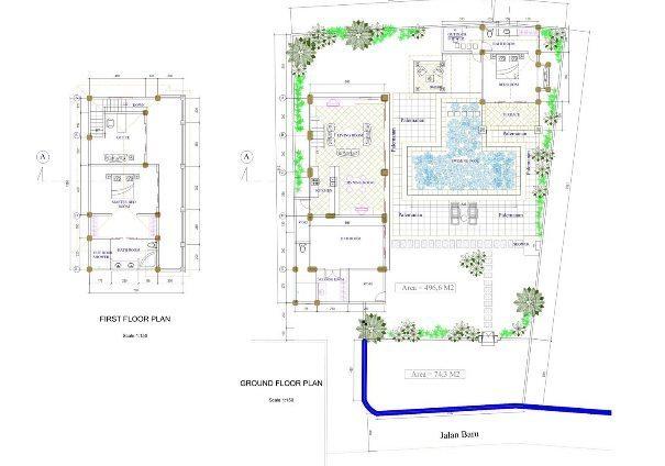 bali-villa-sayang-floor plan