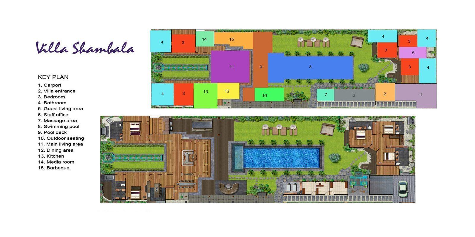 Villa Shambala Floorplan | Seminyak, Bali