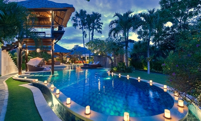 Villa Asta Pool with Candles | Batubelig, Bali