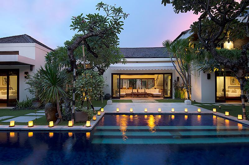 Villa Jemma Pool with Candles | Seminyak, Bali
