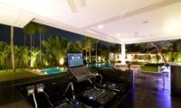 Villa Kalyani Pool Side Lounge Music Set Up   Canggu, Bali