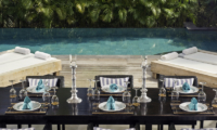 Villa Maya Retreat Pool Side Dining   Tabanan, Bali