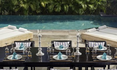 Villa Maya Retreat Pool Side Dining | Tabanan, Bali