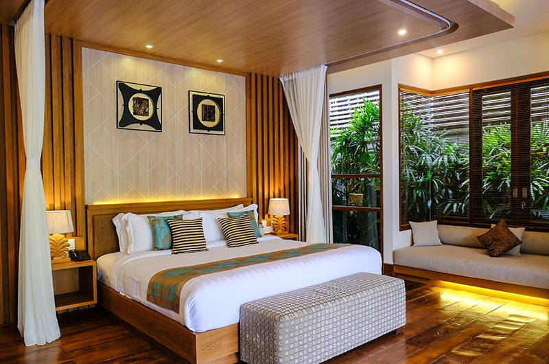 Villa Sally Master Bedroom with Lamps | Canggu, Bali