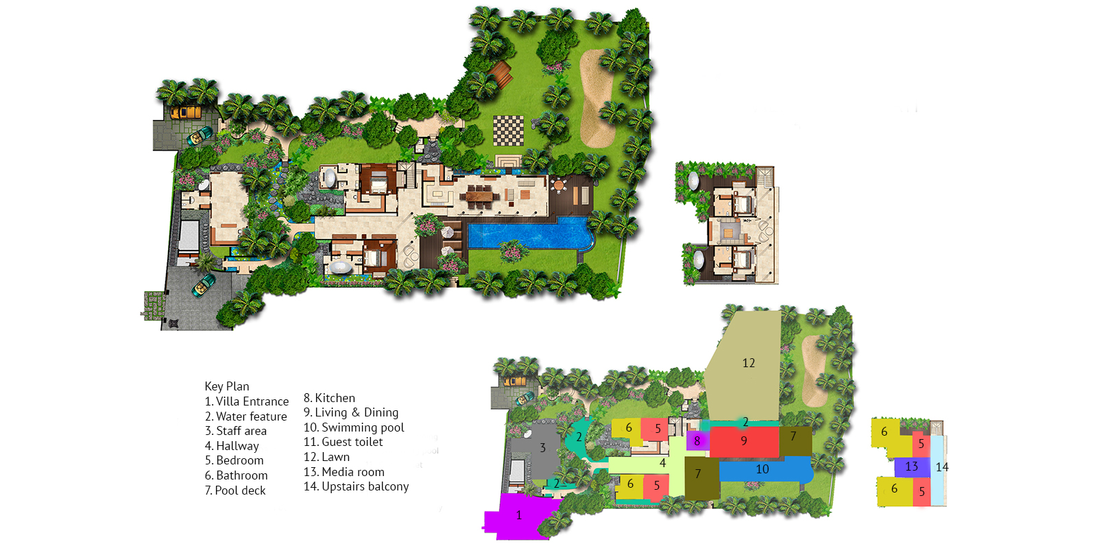 Villa Sarasvati Floor Plan | Canggu, Bali