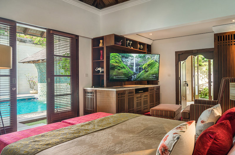 Villa Shinta Dewi Bedroom with TV | Seminyak, Bali