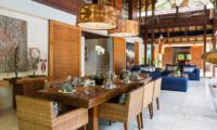 Windu Villas Villa Windu Sari Living and Dining Area | Petitenget, Bali