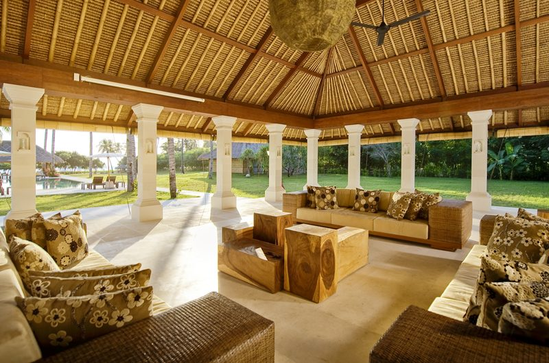 Villa Sepoi Sepoi Indoor Living Area with Pool View | Lombok, Indonesia