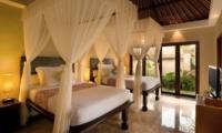 Kamandalu Resort Twin Pool Villa Bedroom | Ubud, Bali