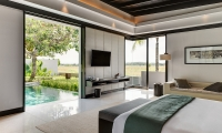 Soori Bali Bedroom with TV   Tabanan, Bali