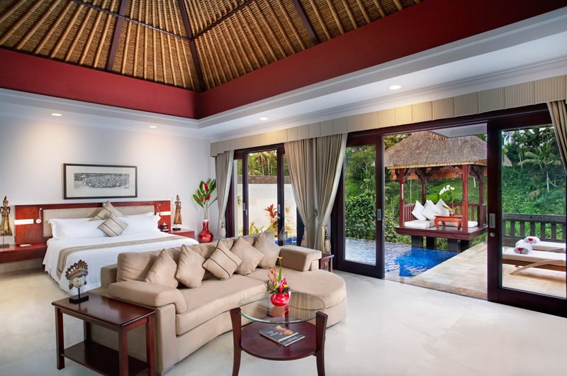Viceroy Bali Deluxe Terrace Villa Bedroom with Seating | Ubud, Bali