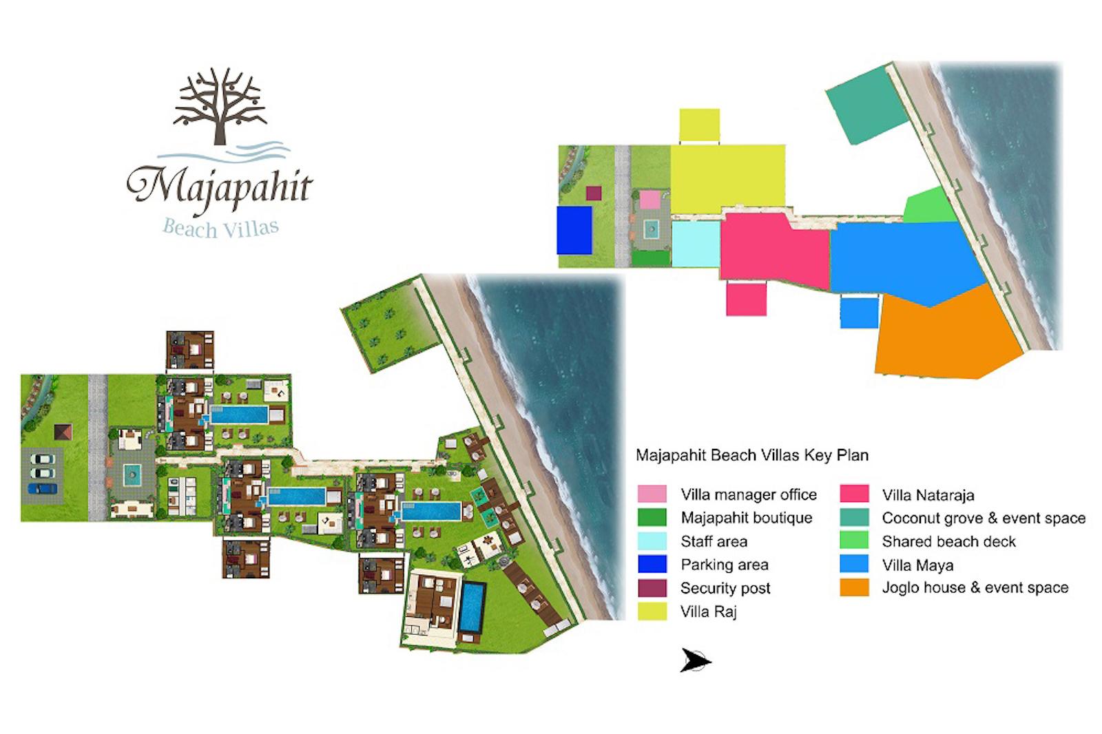 Majapahit Beach Villas Floor Plan | Sanur, Bali