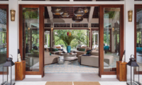 The Arsana Estate Indoor Living Area with Garden View | Tabanan, Bali
