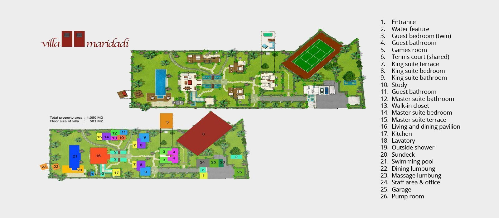 Villa Maridadi Floorplan | Seseh, Bali