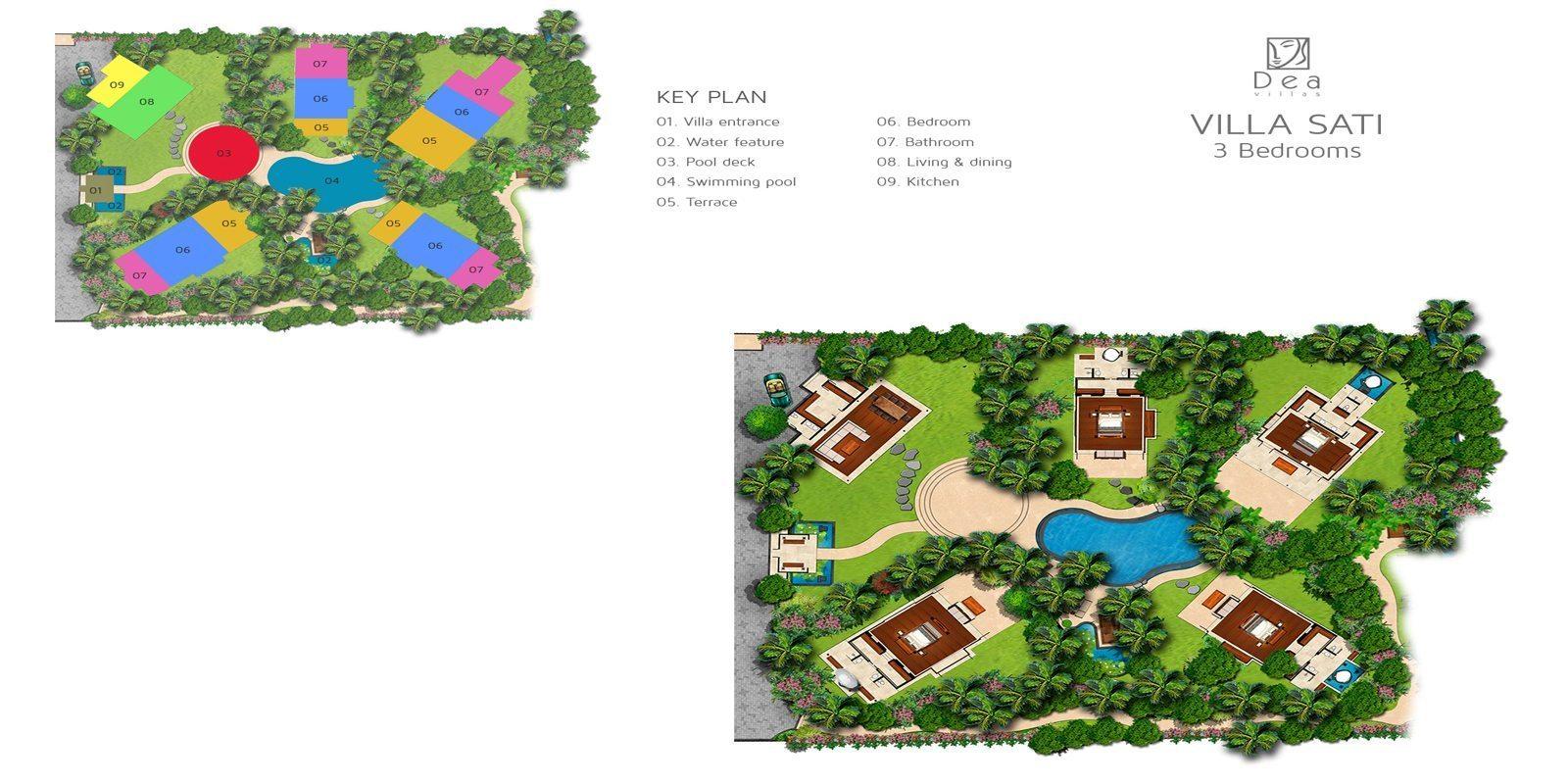 Villa Sati Floorplan | Canggu, Bali