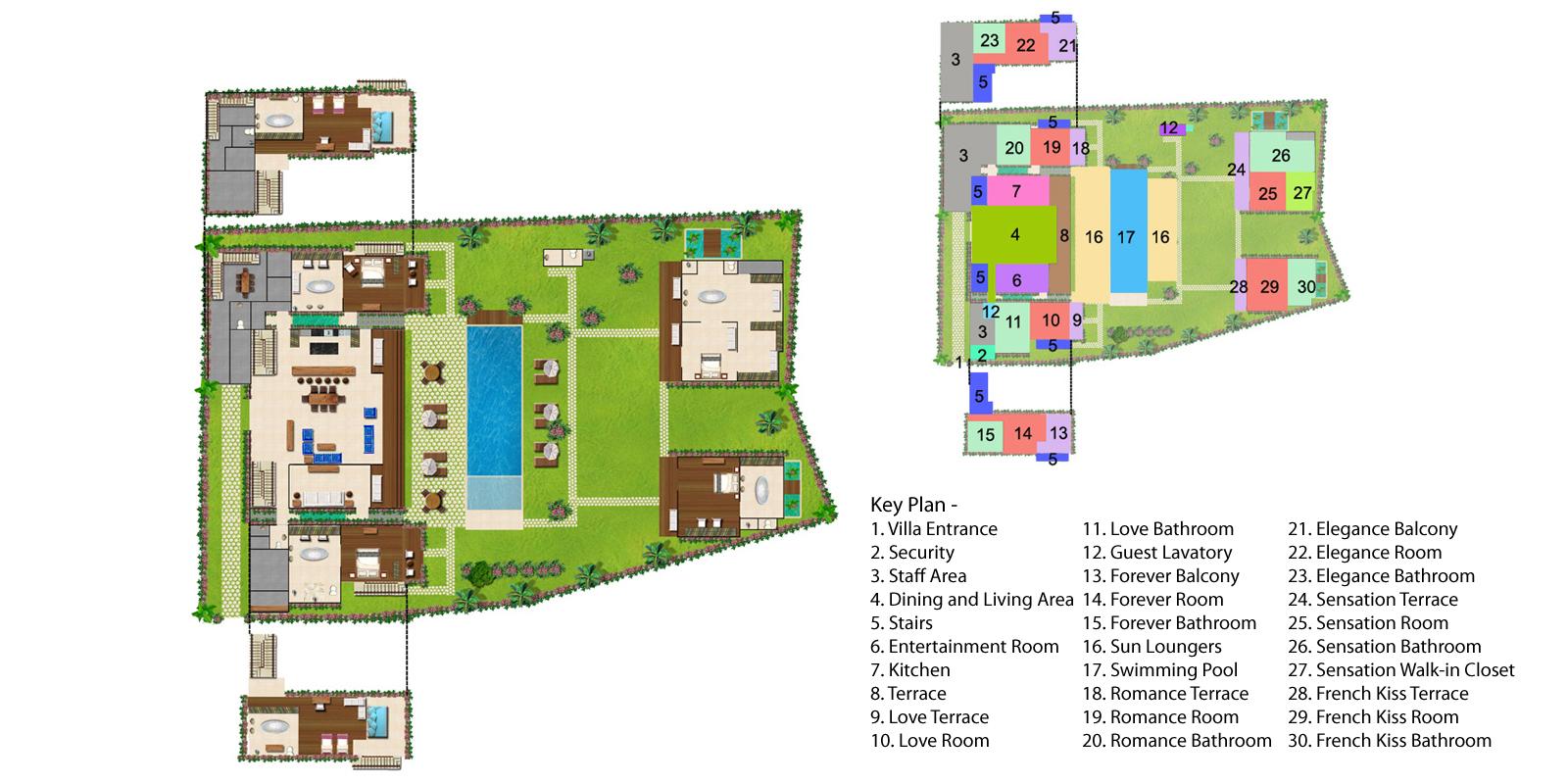 Villa Sayang Damour Floorplan One | Seminyak, Bali