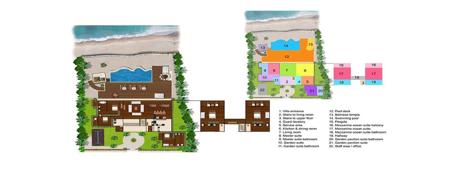 Villa Voyage Floorplan | Nusa Lembongan, Bali